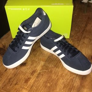 Adidas zapatos NIB neo courtset Suede zapatilla tamaño 65 poshmark
